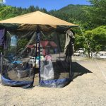 キャンプの虫防止対策 タープの蚊帳を試してみた!