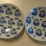 ご飯の時間が楽しみ!しろたんの豆皿 だるま・こま犬