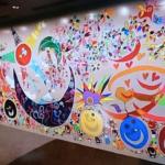 香取慎吾さんが描いたレゴ壁画 全国を回る